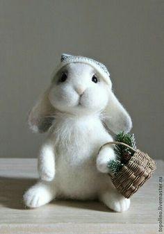 Bearded Bunnie with Basket