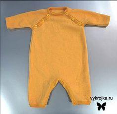 Выкройка комбинезона для новорожденного с рукавом реглан. » Бесплатные выкройки одежды, игрушек на выкройка.ру