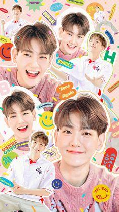 Sehun, Kpop Exo, Rainbow Wallpaper, Iphone Wallpaper, Baekhyun Wallpaper, Exo Album, Exo Lockscreen, Exo Fan, Rainbow Aesthetic