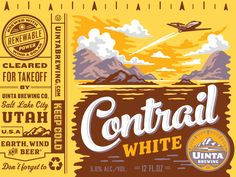 Uinta Contrail White Beer - Rejected Concept - design by Emrich Office