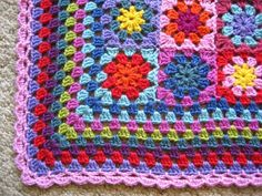 Granny blanket edging from Lucy at Attic24. Great picture tutorial.