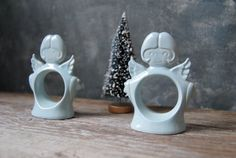 Vintage Christmas Angel Napkin Rings: Vintage 1970s by Untried on Etsy