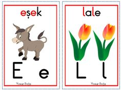 thumbnail of Ses kartları dik temel harfler
