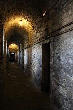 bunker tunnel in Germany...but the lights are still on...I wonder if there is a tour...