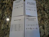 Lots of Algebra foldables {free}