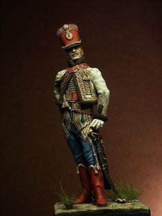 "Officer 5th French Hussars painted by Francesca Fiocca ""Ludilla"""