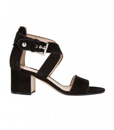 Gianvito Rossi Crisscross Ankle Strap Sandals in Black