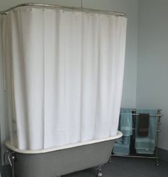 Extra Wide Shower Curtain For A Clawfoot Tub/white With Magnets Extra Wide Shower  Curtain For A Clawfoot Tub White With Magnets Approximately Wide,