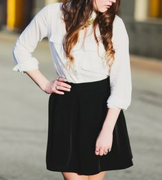 Classic Black Circle Skirt by Kelly King Collective on Scoutmob Shoppe.  A full 1950s style skirt to get fancy with (or not).