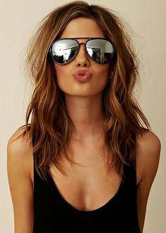 G Chrome Metal Silver Mirrored Aviator Sunglasses #fashion #style