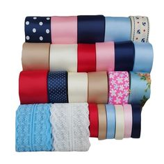 Surker 25 pcs Grosgrain Ribbon DIY Crafts Mixed Pattern Pack *** You can find more details by visiting the image link.