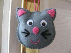 Tête de chat - décoration pour enfants - crea mireille - Fait Maison