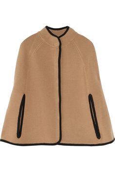 knitted wool cape... saw a Calvin Klein one just like it only with gold buttons at Marshalls today!