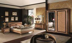 Arredi con specchi - Armadio con specchio per arredare la camera da letto in stile liberty