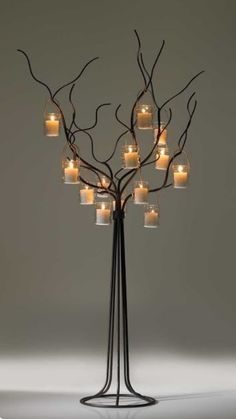 This Candle Lanterns are marvelous at making your home a pleasing place. Chandelier Bougie, Tree Lighting, Candle Lighting, Iron Art, Metal Tree, Best Candles, Candle Lanterns, Wedding Centerpieces, Accent Decor