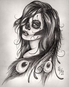 Sugar skull, maybe something like the feathers matching my phoenix.