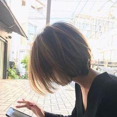 Yesterday's Maiko-like # front short New Hair Do, Cut My Hair, Korean Short Hair, Short Hair Cuts, Charcoal Hair, Medium Hair Styles, Long Hair Styles, Cabello Hair, Kpop Hair