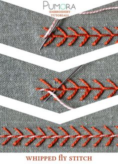 Pumoras embroidery stitch-lexicon: the whipped fly stitch
