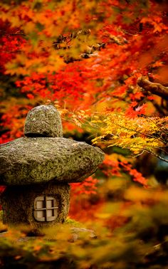 Garden of Enko-ji temple, Kyoto, Japan by Jeffrey Friedl #Kyoto #AutumnLeaves