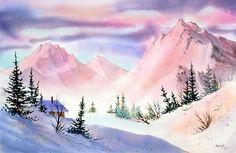 Mountain Glow Painting by Teresa Ascone