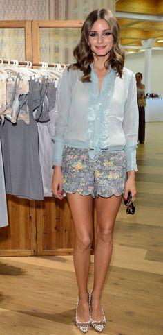 Olivia Palermo's city shorts.