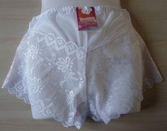 Shorty boxer dentelle Blanc femme lingerie taille L neuf