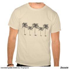 coconut palm trees tees