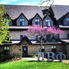 Pi Phi letters outside the house #piphi #pibetaphi (Ohio Epsilon)