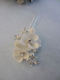 Dogwood Blossom Hair Pin Soft White or Soft by UniqueJewelryLLC has been ordered for my hair! Only $34 :)