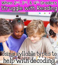 What do you do when and graders, are struggling to decode words that should come easily? Learning about syllable types is a huge help! Guided Reading Organization, Teacher Organization, Teacher Hacks, Student Reading, Teaching Reading, Teaching Ideas, Reading Help, Teaching Tools, Classroom Economy
