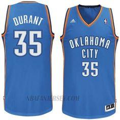 Kevin Durant Oklahoma City Thunder #35 Revolution 30 Swingman Royal Blue Jersey