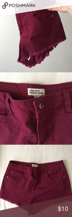 High Rise Shorts High Rise Super short shorts. Never worn! Forever 21 Shorts Jean Shorts