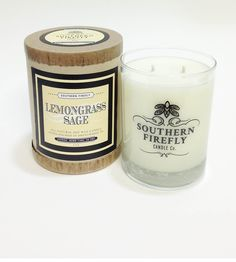 Lemongrass & Sage Soy Candle -Southern Firefly Candles