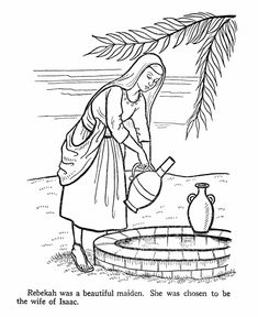Isaac Bible Story Coloring Page