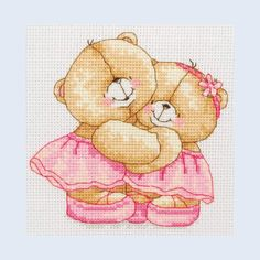Forever Friends - Best Friends - counted cross stitch kit Coats Crafts