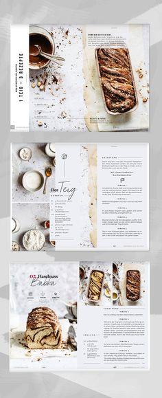 "Inspired by ""Slow Living"" - 1 dough, 3 delicious recipes Food Design, Menu Design, Layout Design, Food Magazine Layout, Food & Wine Magazine, Recipe Book Design, Cookbook Design, What Is Fashion Designing, Magazin Design"