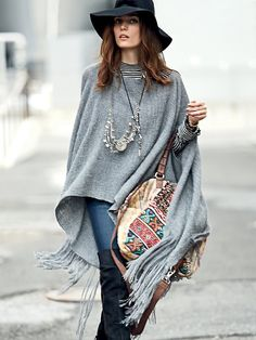 Nomadic Thread Society Sedwick Alpaca Poncho at Free People Clothing Boutique