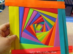 love the colors!   just cut, fold and glue     site has great directions with pics :)