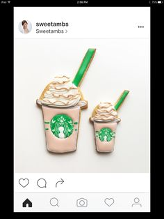 Starbucks Cookies, Frappuccino, Cookie Recipes, Food And Drink, Mini, Creative, Instagram Posts, Desserts, Tea