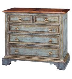 sweet bureau painted in country chic paint's rustic charm. www