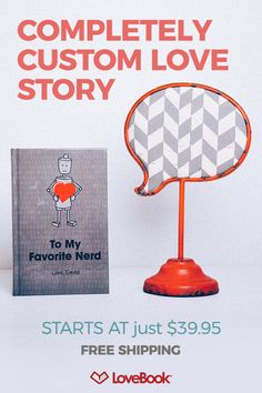 Your story is 100% unique to you and your love. Each LoveBook is a custom made list of all the little reasons why you love and appreciate that special someone. Customize your book as much or as little as you���d like. Get started at lovebookonline.com