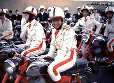 Female police in Iran on their motorbikes---very briefly ahead of their time.  After the Shaw this would have been impossible!