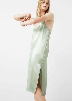 Vestido alças finas | MANGO