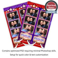 Hollywood red carpet photo booth templates
