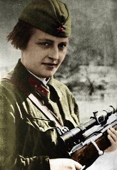 Lyudmila Pavlichenko 12.06.1916-10.10.1974. Soviet female sniper, 309 kills. Holder of the Gold Star of the Hero of the Soviet Union.