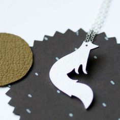 Can't afford it, but I love it, so I'm pinning it to admire. :) Vixen Fox Necklace, Modern Sterling Silver pendant..  via Etsy.