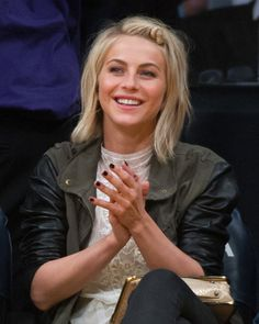 Love Julianne Hough's twisted style. I used to wear my hair like this.... Going to to start again.
