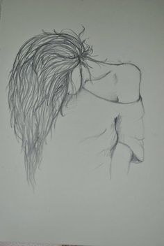 ideas drawing pencil sketches doodles simple - drawing and painting - Pencil Art Drawings, Drawing Sketches, Cool Drawings, Drawing Ideas, Hair Drawings, Simple Art Drawings, Pencil Sketching, Girly Drawings, Pencil Tattoo