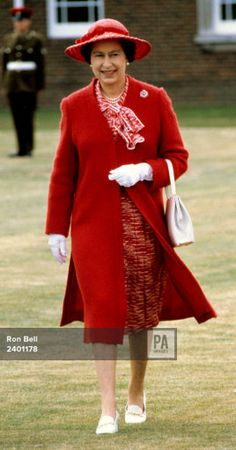 1982. Queen Elizabeth II during a visit she made to Rousillon Barracks, the headquarters of the Royal … Read more Picture by: Ron Bell/PA Archive/PA Images Date taken: 01-Jul-1982