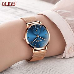 OLEVS Women's Bracelet Watches Luxury Waterproof Ultra Thin Date Clock Female Steel Strap Quartz Watch Ladies Wrist Sport Watch //Price: $US $17.80 & FREE Shipping // #hashtag2 #goldwatch #watchfemale #watchwomen #watches